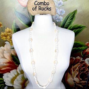 Jewelry - Artisan Shell Long Strand Handmade Boho Necklace